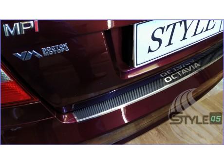 Наклейка на задний бампер Skoda Octavia A5