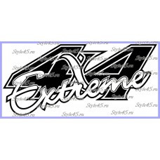 Наклейка 4х4 extreme (102)