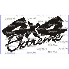 Наклейка 4х4 extreme (170)