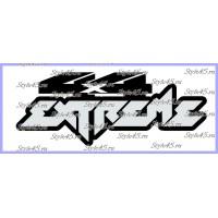 Наклейка 4х4 extreme (177)