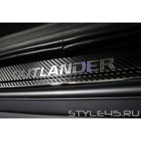 Наклейки на пороги Mitsubishi Outlander 3