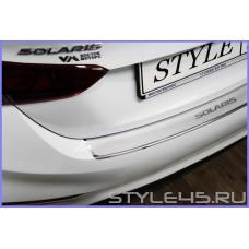 Наклейка на задний бампер Hyundai Solaris 2