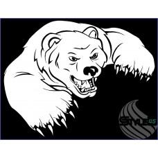 Наклейка медведь (4)