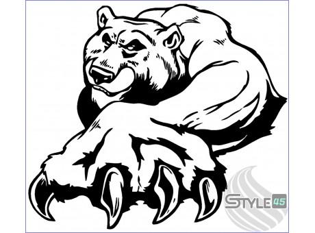 Наклейка медведь (10)