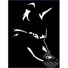 Наклейка Волк (11)