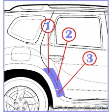 Наклейка антигравийная на заднюю дверь и арку для Nissan Terrano