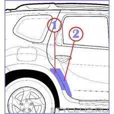 Наклейка антигравийная на заднюю дверь и арку для Renault Duster