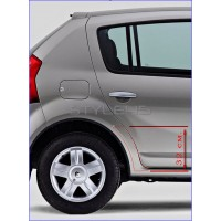 Наклейка антигравийная на заднюю арку Renault Sandero 1