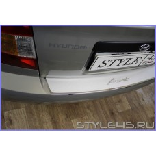 Наклейка на задний бампер для Hyundai Accent  ТагАЗ