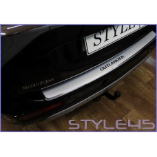 Наклейка на задний бампер для Mitsubishi Outlander 3