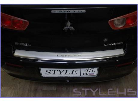 Наклейка на задний бампер для Mitsubishi Lancer 10