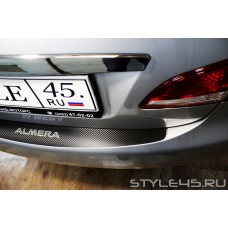Наклейка на задний бампер для Nissan Almera 3