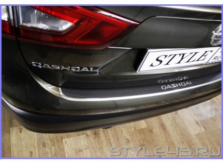 Наклейка на задний бампер для Nissan Qashqai 2