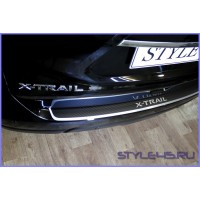 Наклейка на задний бампер Nissan X-Trail 3
