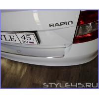 Наклейка на задний бампер Skoda Rapid 1