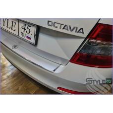 Наклейка на задний бампер Skoda Octavia 3