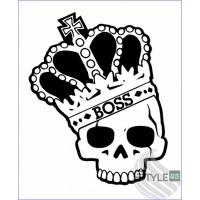 Наклейка Череп Корона CS:GO Boss Sticker (2)