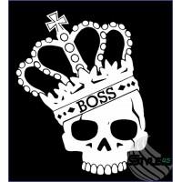 Наклейка Череп Корона CS:GO Boss Sticker (1)