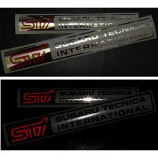 Наклейка Subaru Tecnica International Светоотражающий логотип STI  ( 150 )