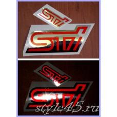 Наклейка STI (154) Cветоотражающий логотип