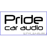 "Наклейка на авто ""Pride car audio"""