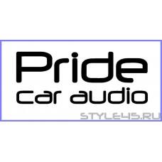 """Наклейка на авто """"Pride car audio"""""""