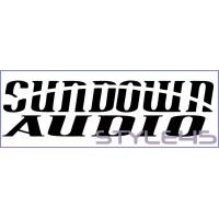 Наклейка на авто Sundown Audio