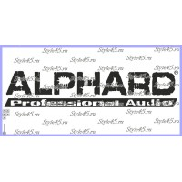 "Наклейка "" Alphard sound technology """