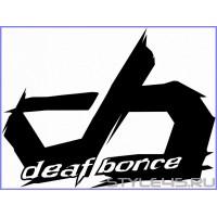 Наклейка на авто Deaf Bonce