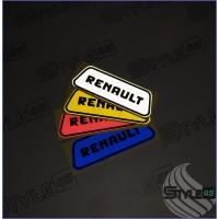 Светоотражающие наклейки на дверь Renault