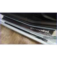 Наклейки на пороги Citroen C4
