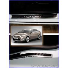 Наклейки на пороги для Ford Mondeo 4