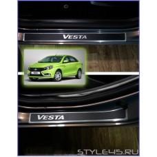 Наклейки на пороги для LADA Vesta