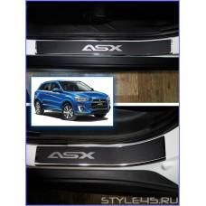Наклейки на пороги для Mitsubishi ASX