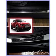 Наклейки на пороги для Nissan Juke