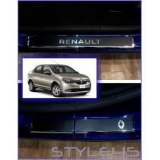 Наклейки на пороги для Renault Logan 2, Sandero 2