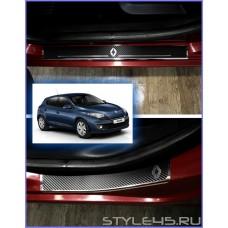 Наклейки на пороги для Renault Megane 3