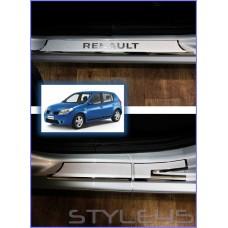 Наклейки на пороги для Renault Sandero 1