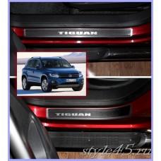Наклейки на пороги для Volkswagen Tiguan 1