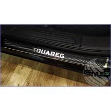 Наклейки на пороги Volkswagen Touareg 2
