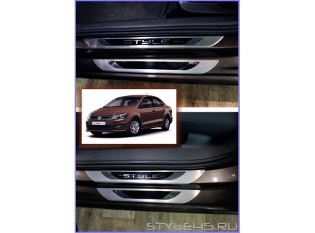 Наклейки на пороги для Volkswagen Polo Style, Sochi Edition