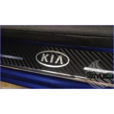 Наклейки на пороги Kia Rio 2