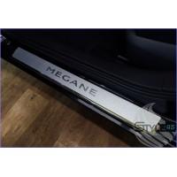 Наклейки на пороги Renault Megane 2