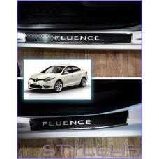 Наклейки на пороги для Renault Fluence
