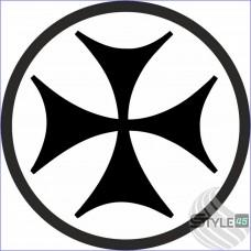 Наклейка грузинский болнисский крест
