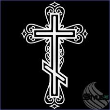 Наклейка православный крест