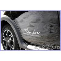 """Наклейка для Renault Sandero """"Your car. Your freedom"""""""