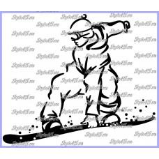 Наклейка Сноубординг (93)
