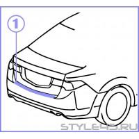 Наклейка на задний бампер Honda Accord 8.