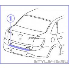 Наклейка на задний бампер для  Lada Granta